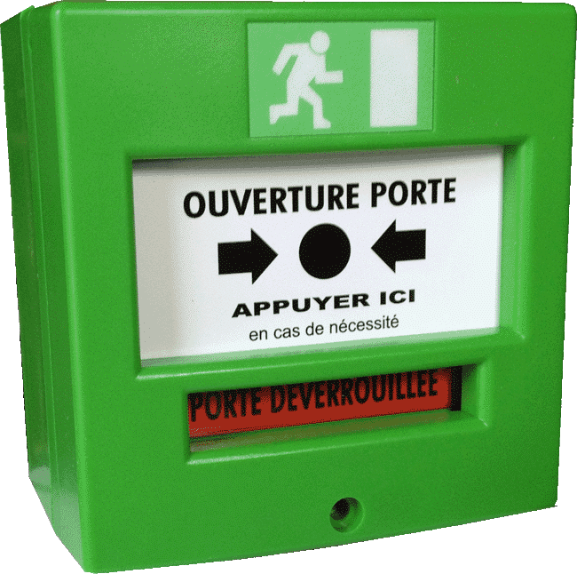 boitier incendie vert